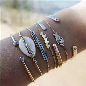 Gold Tassel Bracelets for Women Summer Shell